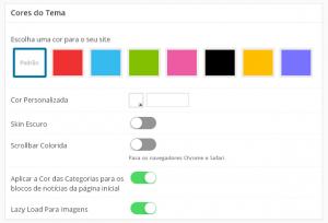 alterar cores